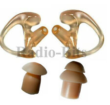 Gel Earpiece Ear Mould Twin Pack and 2 Spare Ear Buds for Acoustic Tube Earpiece