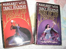 Lot Will of the Wanderer & Prophet Akhran Margaret Weis Tracy Hickman Rose v 1&3