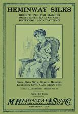 Heminway #10 c.1916 Vintage Pattern Book of Crochet Tatting & Knitting REPRO