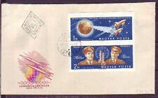 Ungarn 1962.04.09  FDC  MiNr. 1863B-1864B   Wostok 3 und  Wostok 4