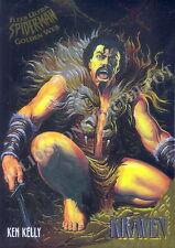 SPIDER-MAN 1995 FLEER ULTRA GOLDEN WEB INSERT CARD 4 OF 9 KRAVEN BY KEN KELLY MA
