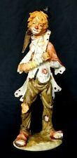 Vintage Duncan Royale Art Collections Clown Statue Accordion Performer Music