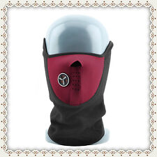 Thermal Neck Warmer,Fleece,Balaclava,Ski Mask,Bike,Half Face Mask,Snowboard,Red