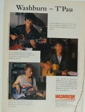 retro magazine advert 1989 WASHBURN / t`pau