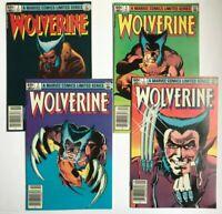 Wolverine #1-4 Limited Series Set 1982 Frank Miller Marvel Comics Newsstand NM