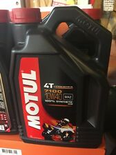 MOTUL 7100 RACING ROAD AND TRACK  10W40 MOTORCYCLE OIL 4L 1 GALLON SYNTHETIC