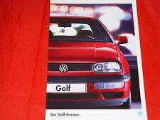 """VW Golf III """"Avenue"""" Sondermodell Prospekt von 7/1995"""