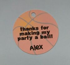 12 Personalized basketball ball sports birthday party favor tags