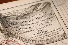 1765 1770 Map Carte géographique Atlas Philippe Prétot Moithey Bohême Silésie