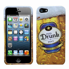 For Apple iPhone 5 5S SE HARD Protector Case Snap On Phone Cover Drunk Beer