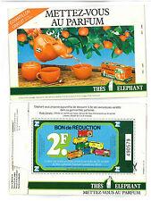 Livret d'échantillons thés Eléphant de 1991 - 4 sachets à l'intérieur - TBE