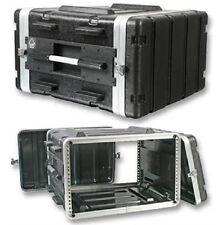 """Stackable ABS 19"""" Rack Flight Case - 6RU"""