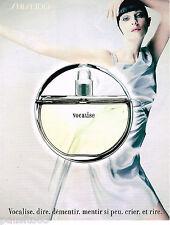 PUBLICITE ADVERTISING 065  1998  SHISEIDO  parfum femme VOCALISE