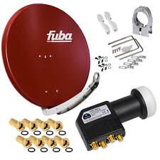FUBA DAA850 SAT Antenne Alu Spiegel Schüssel 85cm + 4K Premium Quad HD HB LNB 3D