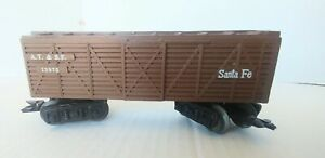 Marx Trains #13975 AT&SF Santa Fe Cattle Car intact & working scissor couplers