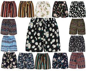 Shorts Ladies Girls Womens Lounge Wear Pants Spring Summer Beach Elastic Size