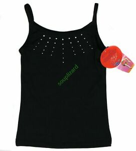 New Girl's Freestyle Dance Cheer Gymnastics Black Tank Top NWT Size XS 4-5