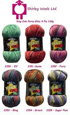King Cole Party Glitz 4 Ply 100g Clearance Offer with Free Sock Pattern