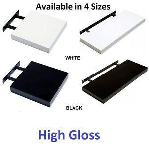 High Gloss Wall Floating Shelf/Shelves White/Black/Grey Display Storage Unit