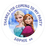 48 Personalised Party Bag Stickers Frozen Elsa Anna Sweet Bag Seals 40mm Labels
