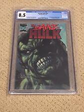 Savage Hulk nn CGC 8.5 White Pages  (Classic Hulk Cover!!)