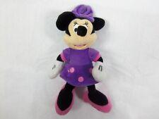 "Disney Just Play Plush Minnie Mouse Pink Purple Doll 10"" Plush Stuffed"