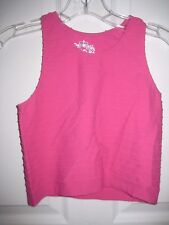 SUGAR LIPS SEAMLESS RIBBED CROPPED TANK TOP - HOT FUCHSIA - ONE SIZE