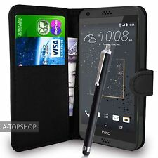 Black Wallet Case PU Leather Book Cover For HTC Desire 530 Mobile Phone