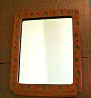 Vintage Syroco Wood Western Wall Mirror Made in Syracuse NY USA