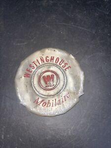 Vintage 1950s Westinghouse Mobilaire Fan Emblem Rare! Round Emblem!