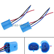 Pair 9007 HB5 Wire Pigtail Male Harness Headlight Replacement Plug Socket