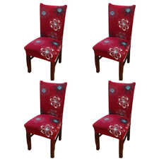 4 Pack Stretch Wedding Banquet Chair Cover Party Decor Dining Room Seat Cover US