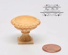 1:12 Dollhouse Miniature Victorian Urn/Tan Miniature Garden AZ A0994TN