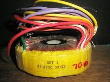 RTI/AMECON SST-1 A1 8600 70VA TOROID TRANSFORMER Drilled Epoxy Center -Bongiorno