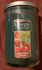 Yankee Candle 22 oz Large Christmas Thyme two Wick Tumbler