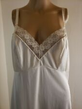 Komar Women's Full Slip Ivory Off White Size 38 Average Vintage Unmentionables