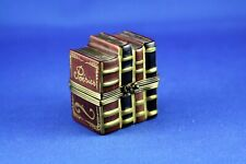 New ListingPeint Main Limoges France Eximious China Trinket Box Stack of Books