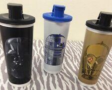 Tupperware Star Wars  Tumblers Set Of 3 C-3PO, R2-D2, Darth Vader 16oz Tumblers