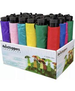 "RainStoppers W20F Assorted Display Umbrellas (24 Count) Multi 42"" Multi Colors"
