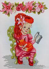 Stick boîte jardin fleurs 40x52 cm point de croix bouquet fleurs bouquet DIY #80051