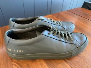 Common Projects Achilles Low Size 41 in Olive Green with Shoe Bag