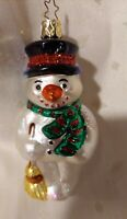 Vintage Inge Glass made in Germany Snowman Christmas ornament
