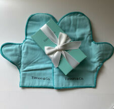 NEW Tiffany & Co. Boxed Pair Sterling Silver Polishing Mitts Made in England