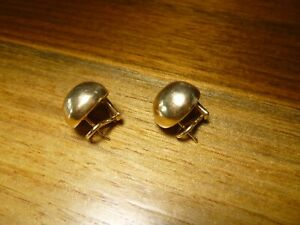James Avery 14K Yellow Gold Domed French Clip Earrings 13.3 grams