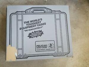 Pelican 1550C Watertight Hard Case with Foam Insert - Charcoal - NEW Open Box
