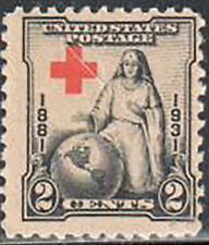 SC#702 - 2c Red Cross Issue MNH w/Offset Cross
