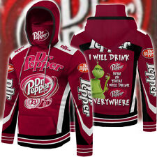 Dr Pepper Men 3D Hoodie With Gaiter All Over Prints