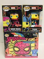 Funko Pop Marvel Black Light Iron Man Thor Spider-Man XL Tee Target Exclusive