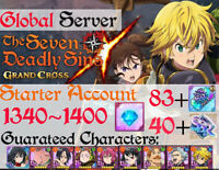 [INSTANT][GLOBAL]1340+Diamonds Seven Deadly Sins Grand Cross Starter Account 7DS