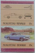 1956 LINCOLN CONTINENTAL MKII Car Stamps (Leaders of the World / Auto 100)
